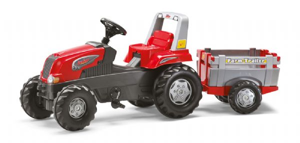 Image of   Rolly Junior Traktor m. Farm Trailer - Rolly Toys 800261