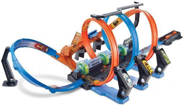 Image of   Hot Wheels Corkscrew Crash bane - Aktion racer bilbaner til børn FTB65