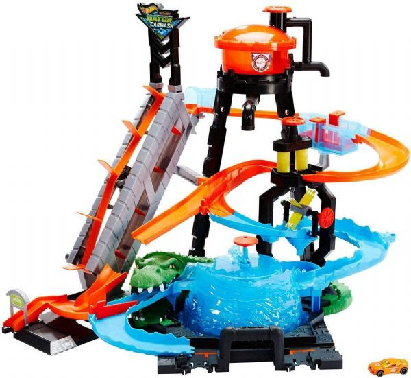 Image of Hot Wheels Ultimative vaskehal bilbane - HW Aktion racer bilbaner til børn FTB67 (54-0FTB67)