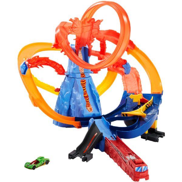 Image of Hot Wheels Volcano Highway bilbane - HW Aktion racer bilbaner til børn FTD61 (54-0FTD61)