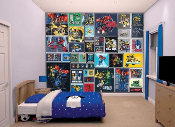 Image of Transformers tapet - Walltastic Transformer 3D børnetapet 438 (74-043831)