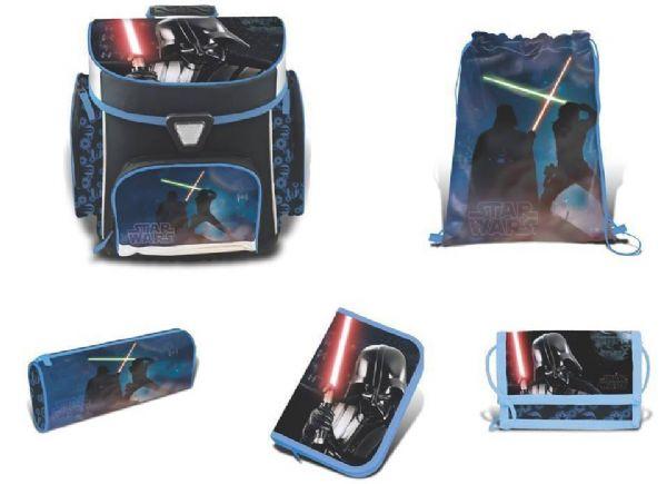 Image of Star Wars Skoletaske sæt 5 dele - Star Wars Skoletaske 758707 (92-758707)
